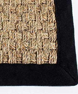 Safavieh Natural Fiber Collection NF114C Basketweave Natural And Black Summer Seagrass Area Rug 4 X 6 0 1 300x360