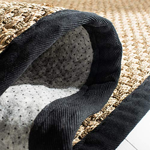 Safavieh Natural Fiber Collection NF114C Basketweave Natural And Black Summer Seagrass Area Rug 4 X 6 0 2