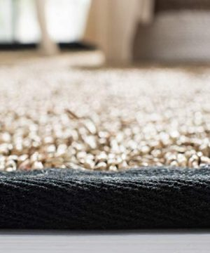Safavieh Natural Fiber Collection NF114C Basketweave Natural And Black Summer Seagrass Area Rug 4 X 6 0 3 300x360