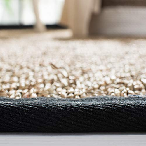 Safavieh Natural Fiber Collection NF114C Basketweave Natural And Black Summer Seagrass Area Rug 4 X 6 0 3