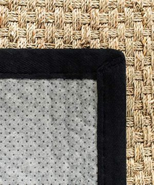 Safavieh Natural Fiber Collection NF114C Basketweave Natural And Black Summer Seagrass Area Rug 4 X 6 0 4 300x360