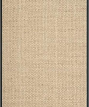 Safavieh Natural Fiber Collection NF114C Basketweave Natural And Black Summer Seagrass Area Rug 6 X 9 0 300x360