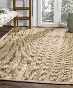 Safavieh Natural Fiber Collection NF115A Herringbone Natural And Beige Seagrass Area Rug 4 X 6 0 300x360