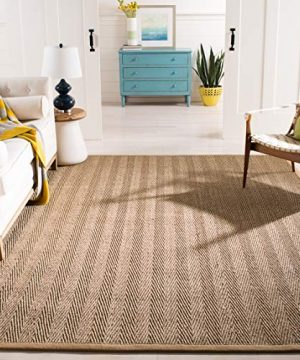 Safavieh Natural Fiber Collection NF115A Herringbone Natural And Beige Seagrass Area Rug 8 X 10 0 300x360