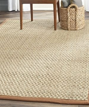 Safavieh Natural Fiber Collection NF115B Herringbone Natural And Brown Seagrass Area Rug 3 X 5 0 300x360