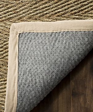 Safavieh Natural Fiber Collection NF115J Herringbone Natural And Ivory Seagrass Area Rug 5 X 8 0 1 300x360