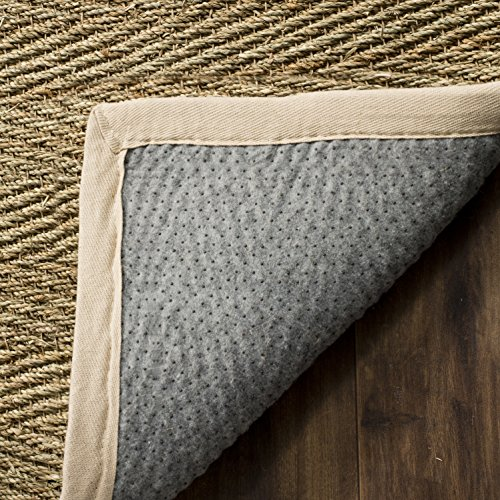 Safavieh Natural Fiber Collection NF115J Herringbone Natural And Ivory Seagrass Area Rug 5 X 8 0 1