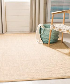 Safavieh Natural Fiber Collection NF141B Tiger Paw Weave Maize And Linen Sisal Area Rug 6 X 9 0 300x360