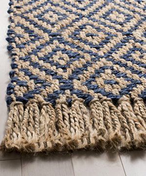 Safavieh Natural Fiber Collection NF266D Hand Woven Tropical Blue And Natural Jute Area Rug 5 X 8 0 0 300x360