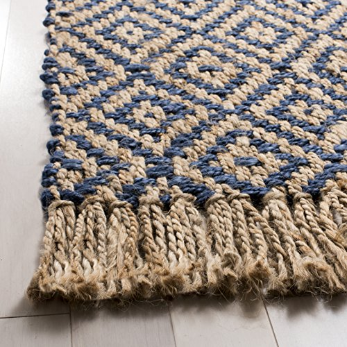 Safavieh Natural Fiber Collection NF266D Hand Woven Tropical Blue And Natural Jute Area Rug 5 X 8 0 0