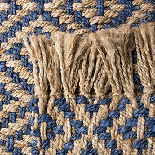 Safavieh Natural Fiber Collection NF266D Hand Woven Tropical Blue And Natural Jute Area Rug 5 X 8 0 1