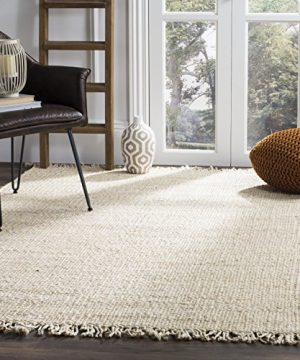Safavieh Natural Fiber Collection NF368B Hand Woven Jute Area Rug 4 X 6 Ivory 0 300x360