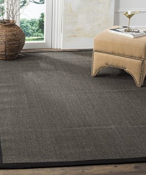 Safavieh Natural Fiber Collection NF441D Hand Woven Charcoal Sisal Area Rug 6 X 9 0 300x360