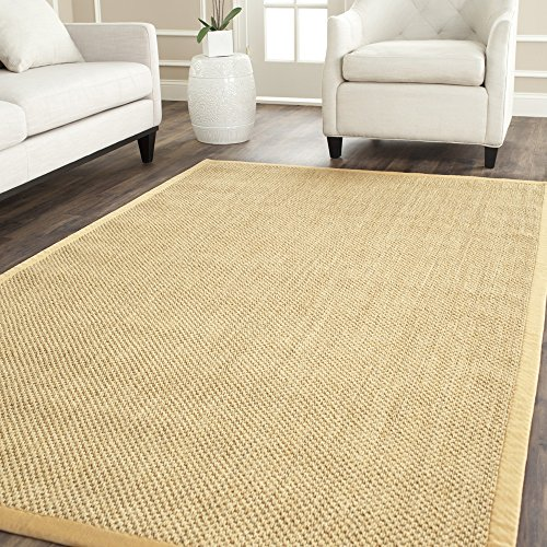Safavieh Natural Fiber Collection NF443A Tiger Eye Maize And Wheat Sisal Area Rug 8 X 10 0