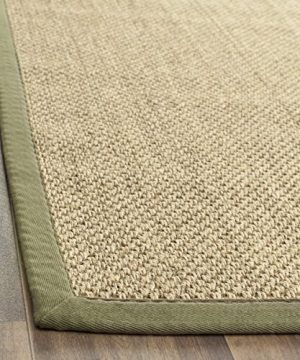 Safavieh Natural Fiber Collection NF443C Tiger Eye Natural And Green Sisal Area Rug 6 X 9 0 0 300x360