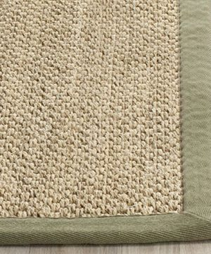 Safavieh Natural Fiber Collection NF443C Tiger Eye Natural And Green Sisal Area Rug 6 X 9 0 1 300x360