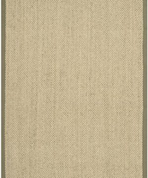 Safavieh Natural Fiber Collection NF443C Tiger Eye Natural And Green Sisal Area Rug 6 X 9 0 2 300x360