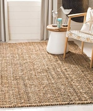 Safavieh Natural Fiber Collection NF447A Hand Woven Chunky Textured Jute Area Rug 3 X 5 0 0 300x360