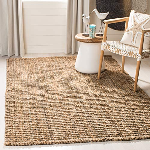 Safavieh Natural Fiber Collection NF447A Hand Woven Chunky Textured Jute Area Rug 3 X 5 0 0