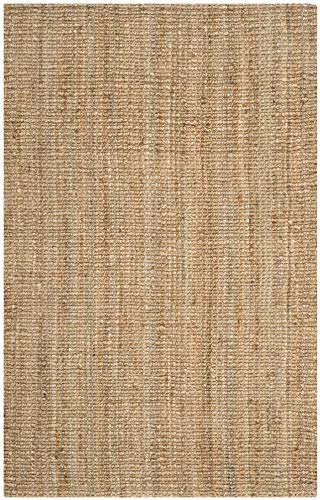 Safavieh Natural Fiber Collection NF447A Hand Woven Chunky Textured Jute Area Rug 3 X 5 0 1