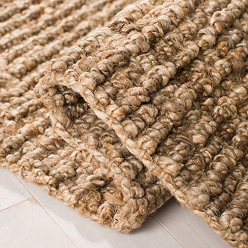 Safavieh Natural Fiber Collection NF447A Hand Woven Chunky Textured Jute Area Rug 3 X 5 0 3