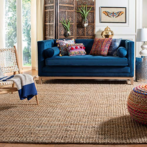 Safavieh Natural Fiber Collection NF447A Hand Woven Chunky Textured Jute Area Rug 3 X 5 0