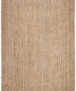 Safavieh Natural Fiber Collection NF447A Hand Woven Chunky Textured Jute Area Rug 4 X 6 0 0 300x360
