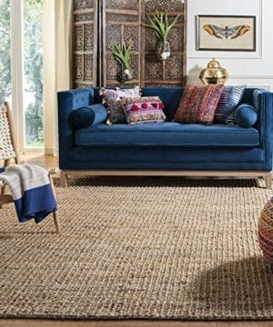 Safavieh Natural Fiber Collection NF447A Hand Woven Chunky Textured Jute Area Rug 4 X 6 0 300x360