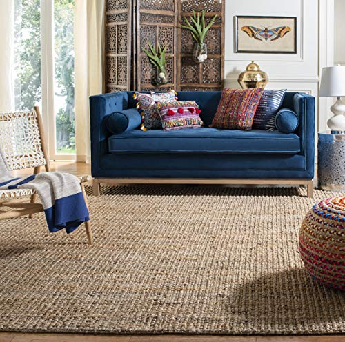 Safavieh Natural Fiber Collection NF447A Hand Woven Chunky Textured Jute Area Rug 4 X 6 0