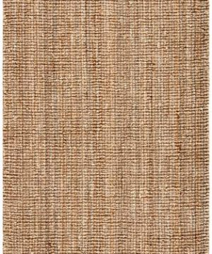 Safavieh Natural Fiber Collection NF447A Hand Woven Chunky Textured Jute Area Rug 5 X 8 0 1 300x360
