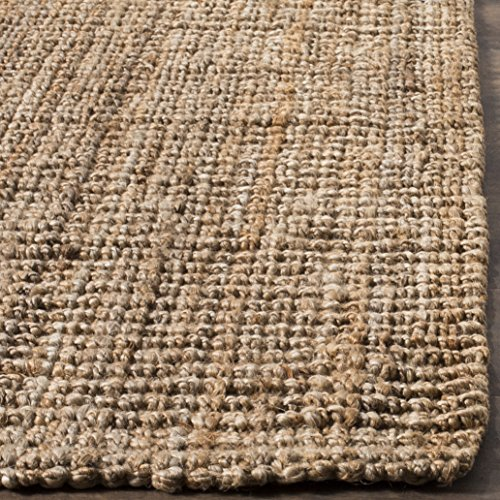Safavieh Natural Fiber Collection NF447A Hand Woven Chunky Textured Jute Area Rug 5 X 8 0 2