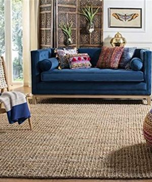 Safavieh Natural Fiber Collection NF447A Hand Woven Chunky Textured Jute Area Rug 5 X 8 0 300x360