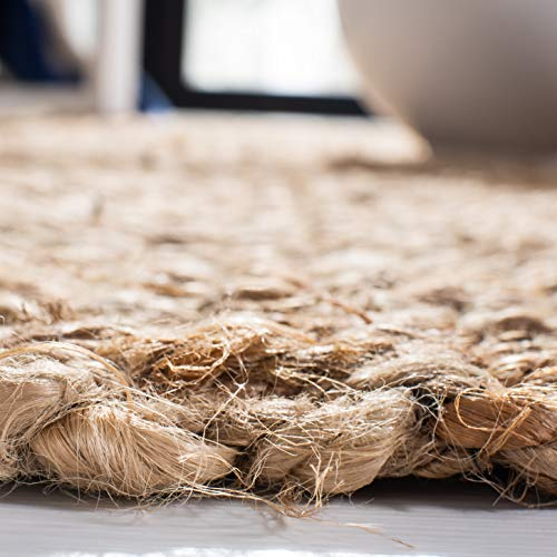 Safavieh Natural Fiber Collection NF467A Hand Woven Jute Area Rug 4 X 6 0 2