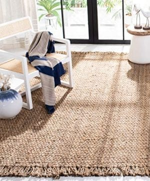 Safavieh Natural Fiber Collection NF467A Hand Woven Jute Area Rug 4 X 6 0 300x360