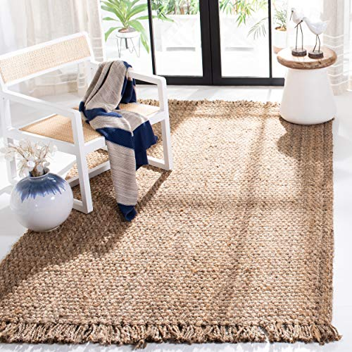 Safavieh Natural Fiber Collection NF467A Hand Woven Jute Area Rug 5 X 8 0