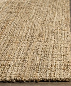 Safavieh Natural Fiber Collection NF747A Hand Woven Natural Jute Area Rug 6 X 9 0 0 300x360