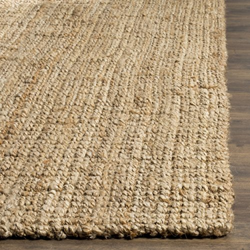Safavieh Natural Fiber Collection NF747A Hand Woven Natural Jute Area Rug 6 X 9 0 0