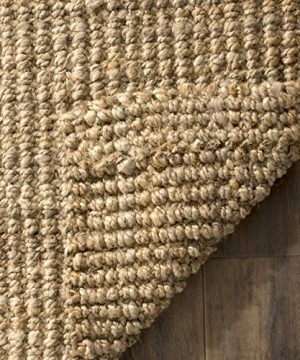 Safavieh Natural Fiber Collection NF747A Hand Woven Natural Jute Area Rug 6 X 9 0 1 300x360