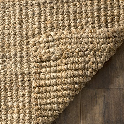 Safavieh Natural Fiber Collection NF747A Hand Woven Natural Jute Area Rug 6 X 9 0 1