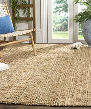 Safavieh Natural Fiber Collection NF747A Hand Woven Natural Jute Area Rug 6 X 9 0 300x360