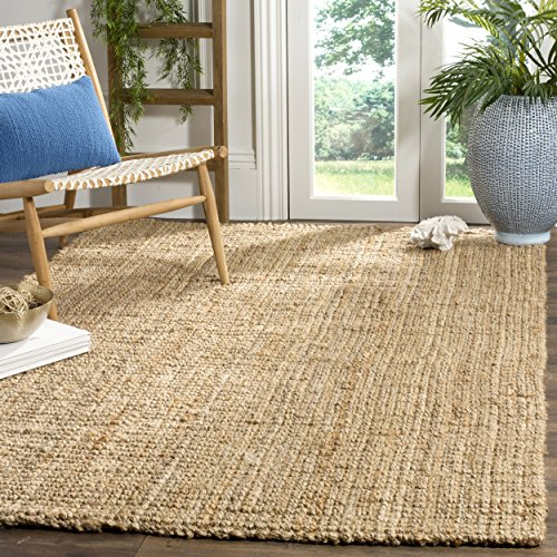 Safavieh Natural Fiber Collection NF747A Hand Woven Natural Jute Area Rug 6 X 9 0