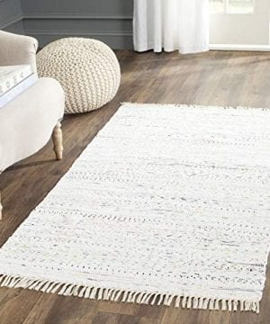 Safavieh Rag Rug Collection RAR121G Hand Woven Ivory And Multi Cotton Area Rug 3 X 5 0 300x360