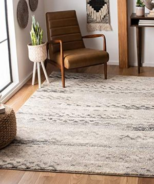 Safavieh Retro Collection RET2136 1180 Modern Abstract Cream And Grey Area Rug 4 X 6 0 300x360