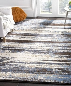 Safavieh Retro Collection RET2138 1165 Modern Abstract Cream And Blue Area Rug 3 X 5 0 300x360