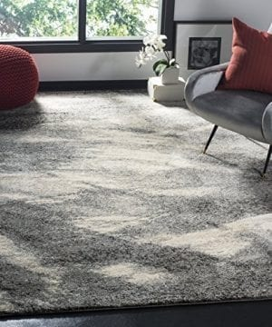 Safavieh Retro Collection RET2891 8012 Modern Abstract Grey And Ivory Area Rug 3 X 5 0 300x360