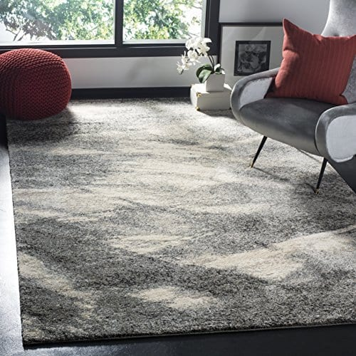 Safavieh Retro Collection RET2891 8012 Modern Abstract Grey And Ivory Area Rug 3 X 5 0