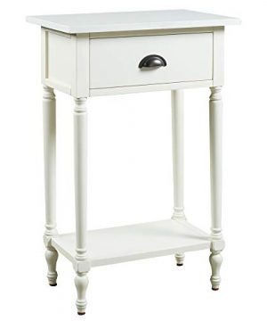 Signature Design By Ashley Juinville Accent Table Vintage Casual White 0 300x360