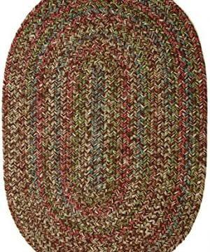 Sonya IndoorOutdoor Oval Reversible Braided Rug 4 By 6 Feet Brown Multicolor 0 300x360