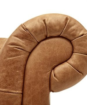 Stone Beam Bradbury Chesterfield Modern Tufted Leather Loveseat Sofa Couch 787W Cognac 0 0 300x360