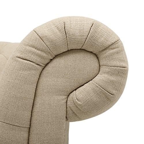 Stone Beam Bradbury Chesterfield Tufted Loveseat Sofa Couch 787W Hemp 0 0